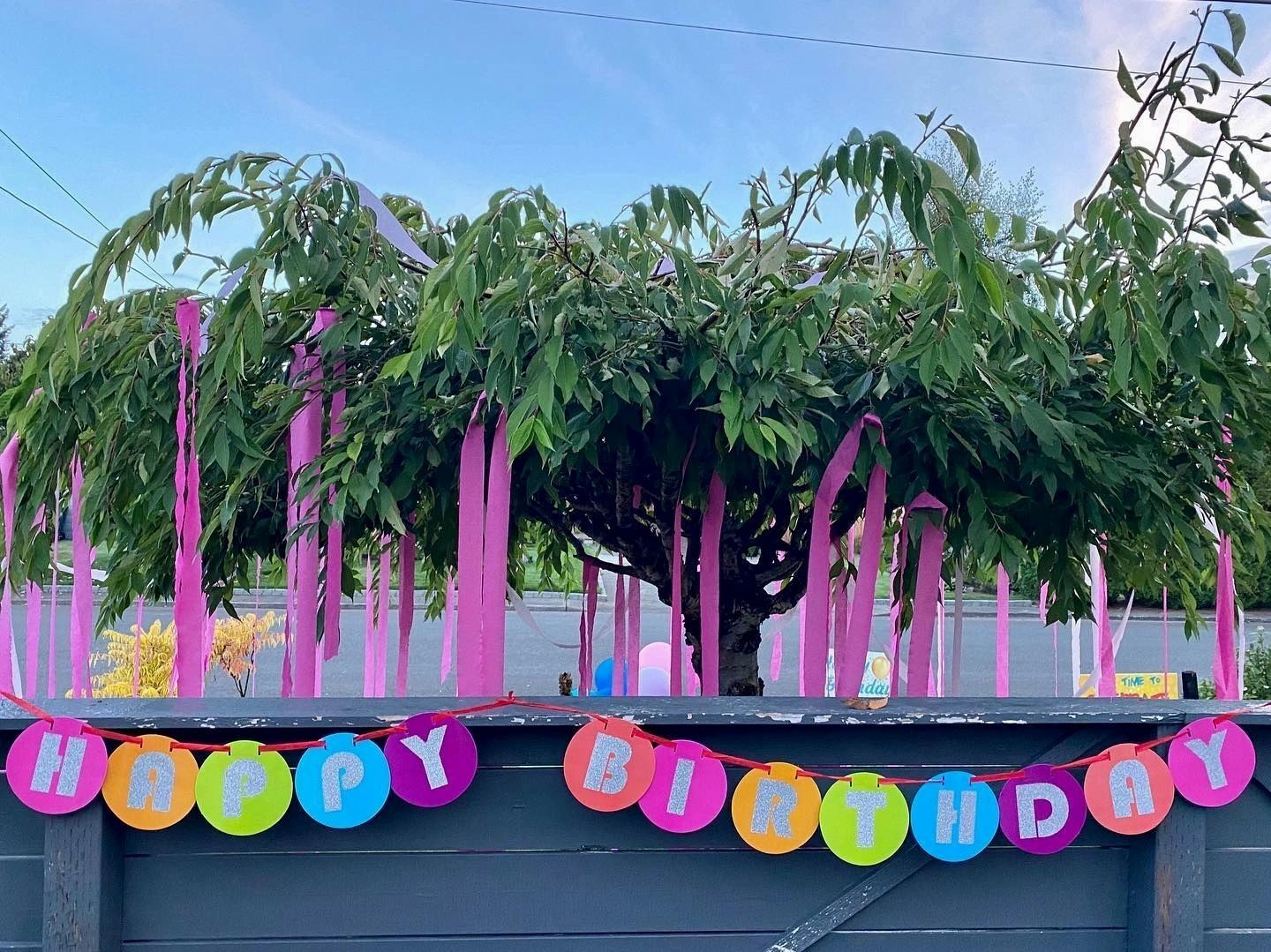 It's a Birthday Yard sign with balloons